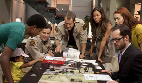 "Eureka - Seaon 5:  Trevor Jackson as Kevin Blake, Kavan Smith as Deputy Andy, Colin Ferguson as Jack Carter, Salli Richardson-Whitfield as Allison Blake, Felicia Day as Dr. Holly Marten, Neil Grayston as Douglas Fargo fro episode titled ""In Too Deep"""