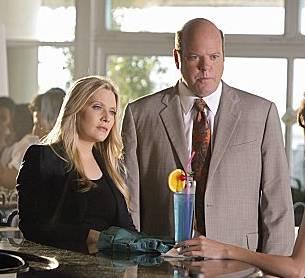 Rex Linn and Emily Procter in 'CSI: Miami'