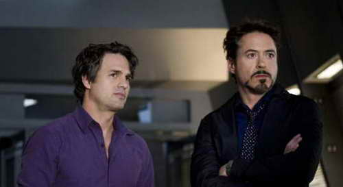 Robert Downey Jr. and Mark Ruffalo in 'The Avengers'