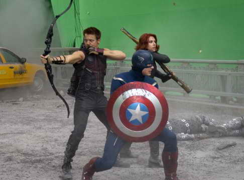 'The Avengers' movie review - Chris Evans, Scarlett Johansson and Jeremy Renner in The Avengers