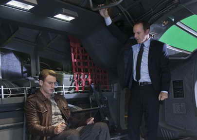 'The Avengers' movie review - Clark Gregg and Chris Evans