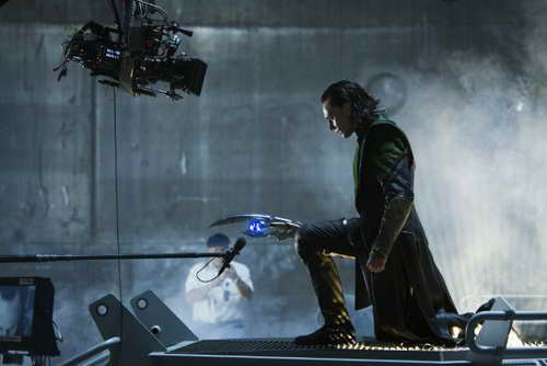 Tom Hiddleston as Loki in 'The Avengers'
