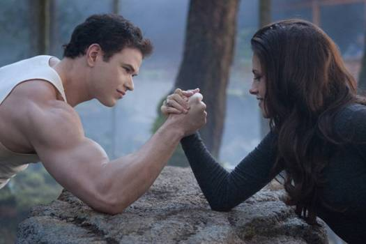 Kristen Stewart and Kellan Lutz in 'The Twilight Saga Breaking Dawn' - Part 2