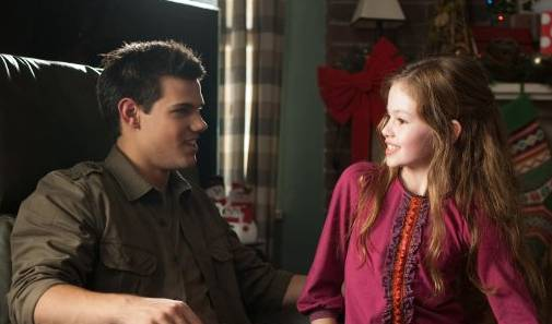 Taylor Lautner and Mackenzie Foy in 'The Twilight Saga Breaking Dawn' - Part 2