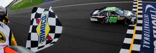 Dale Earnhardt Jr. wins the Quicken Loans 400 in the Dark Knight Rises paint scheme