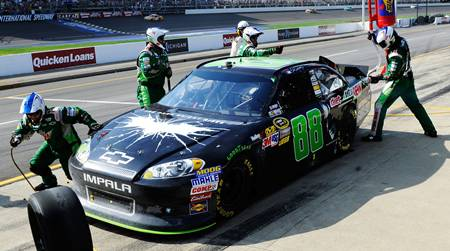 Dale Earnhardt Jr. in 'The Dark Knight Rises' scheme in the 'Quicken Loans 400'