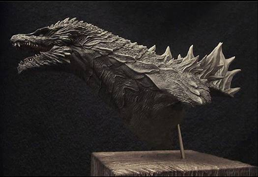 GODZILLA - fictional promo bust for LEGENDARY PICTURES remake