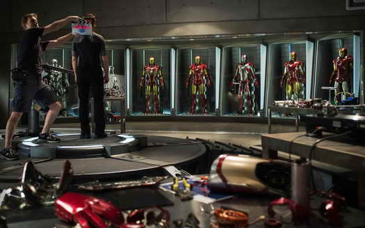 IRON MAN 3 movie update, image: Hall of Armor