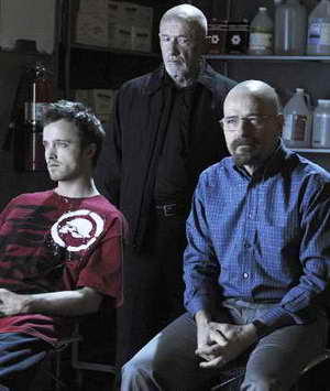 Jonathan Banks, Bryan Cranston and Aaron Paul in 'Breaking Bad'