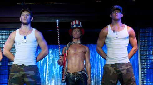 'Magic Mike:' pictured: Matthew McConaughey, Channing Tatum and Alex Pettyfer