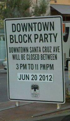 Menlo Park Block Party info