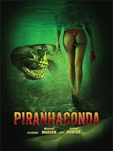 'Piranhaconda' TV movie review; promo art