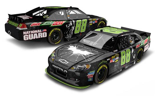 'The Dark Knight Rises' Dale Earnhardt Jr Diet Dew car