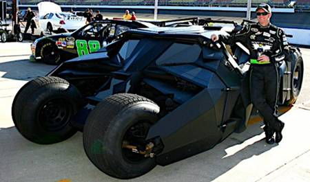 'The Dark Knight Rises' at NASCAR w Dale Earnhardt Jr in Michigan via HMS