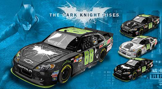 'The Dark Knight Rises' diecast - Dale Earnhardt Jr's No. 88 Chevy