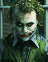 Heath Ledger as the Joker in 'The Dark Knight'