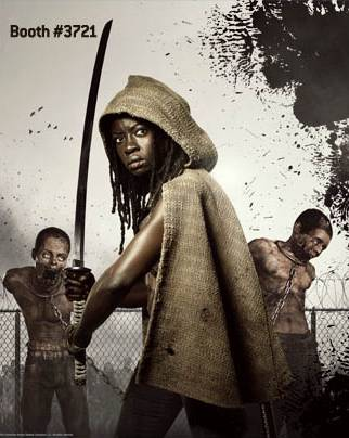 'The Walking Dead' season 3 Comic-Con promo banner Michonne played by Danai Gurira