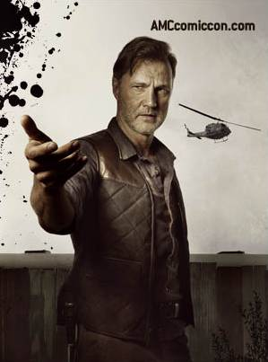 'The Walking Dead' season 3 Comic-Con promo banner - The Governor played by David Morrissey