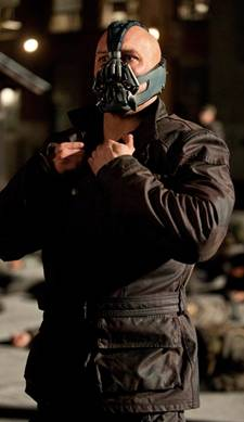Tom Hardy as Bane in 'The Dark Knight Rises' DKR