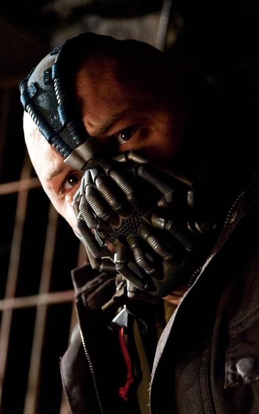Tom Hardy plays Bane in 'The Dark Knight Rises'
