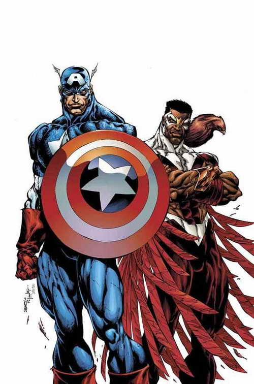 Captain America and The Falcon (cover art from Marvel's Two Americas)
