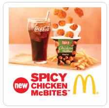 McDonalds Spicy Chicken McBites