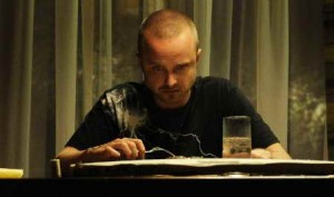 Aaron Paul at dinner in Breaking Bad ep BUYOUT