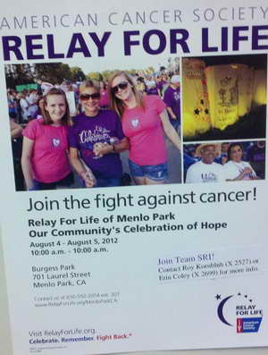 American Cancer Society RELAY FOR LIFE in Menlo Park