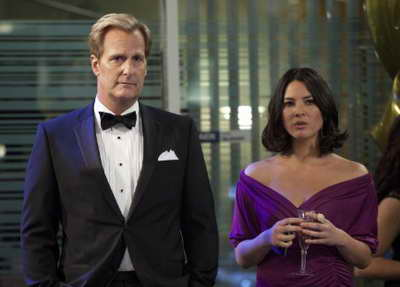 Jeff Daniels and Olivia Munn in The Newsroom
