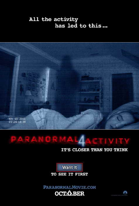 Paranormal Acitivy 4 promo