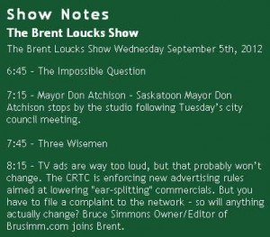 Brent Loucks Show 03