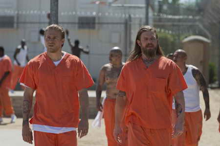 Charlie Hunnam and Ryan Hurst in Sons of Anarchy
