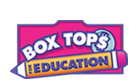 Donate money to schools with Box Tops for Education