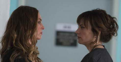 Drea de Matteo and Maggie Siff in Sons of Anarchy ep recap Laying Pipe