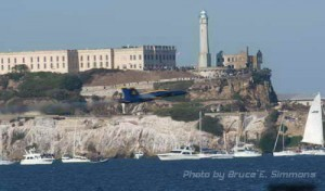 Photo - Fleet Week in the Bay Area, Blue Angels performing - Alcatraz