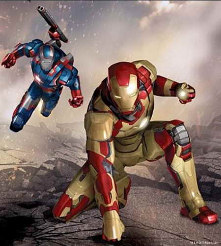 Iron Man 3 news - drawing War Machine and Extremis Armors