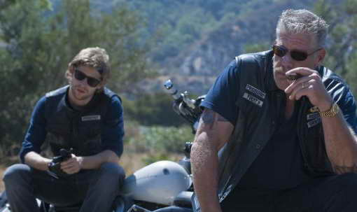 Johnny Lewis found dead, pictured here with Ron Perlman in Sons of Anarchy