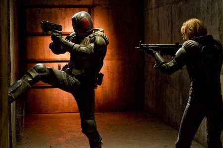 Karl Urban and Olivia Thirlby in Dredd 3D movie review