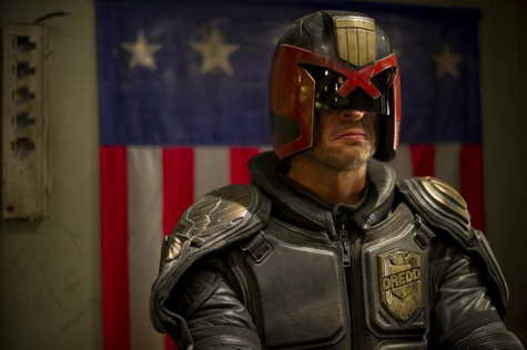 Karl Urban in Dredd 3D movie