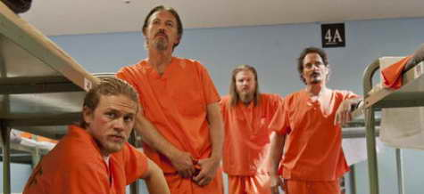 Kim Coates, Tommy Flanagan, Ryan Hurst and Charlie Hunnam in Sons of Anarchy ep Laying Pipe