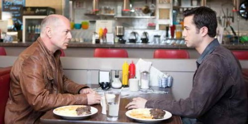 Looper movie review - Bruce Willis and Joseph Gordon-Levitt