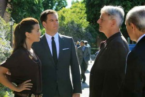 Mark Harmon, Joe Spano, Michael Weatherly and Cote de Pablo in NCIS season premiere Extreme Prejudice