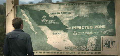 Monsters warning sign - infected zone