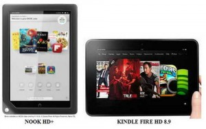 Nook and Kindle Fire E-reader comparison