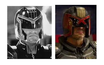 Stallone and Urban as Judge Dredd