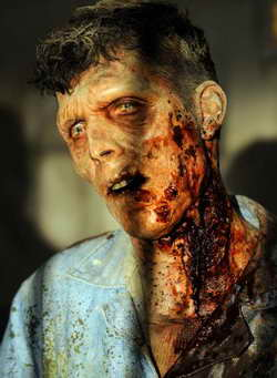 The Walking Dead season 3 zombie