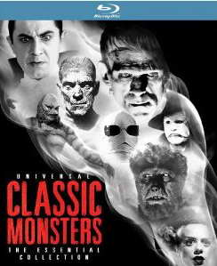 Universal Classic Monsters The Essential Collection on blu-ray