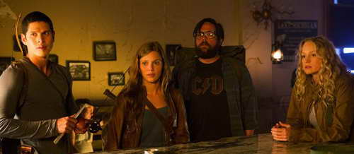Zak Orth, Anna Lise Phillips, JD Pardo and Tracy Spiridakos in NBC's REVOLUTION