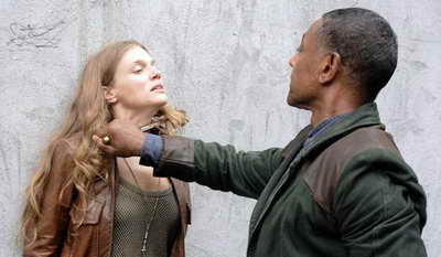 Giancarlo Esposito and Tracy Spiridakos in Revolution on NBC