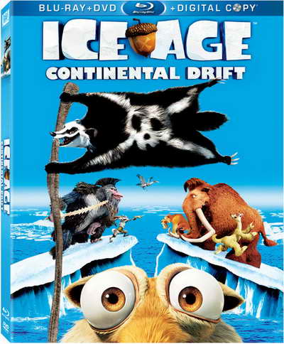 Ice Age Continental Drift blu-ray box art